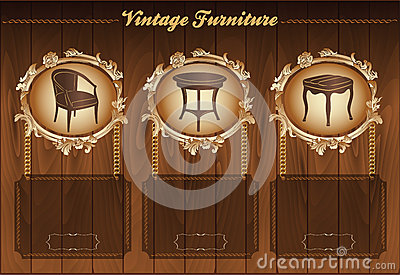 Vintage furniture flyer