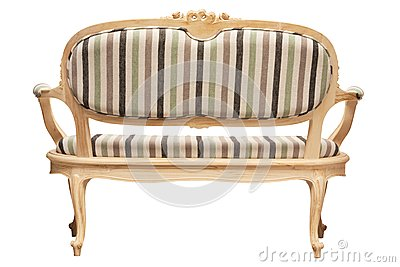 Vintage furniture rear view