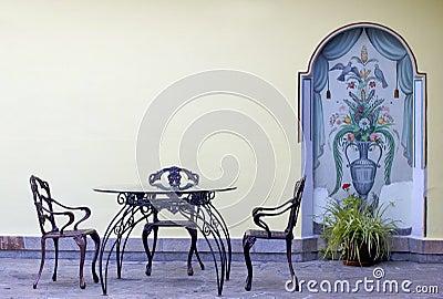Vintage Garden Furniture Stock Photo