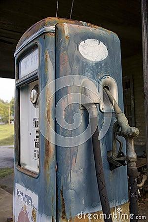 gas pump handle. Old vintage gas pump handle