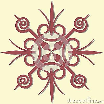 Vintage geometric element