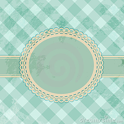 Vintage gingham label background