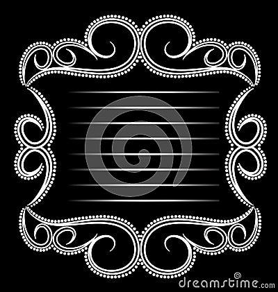 Vintage glamoroso do emblema