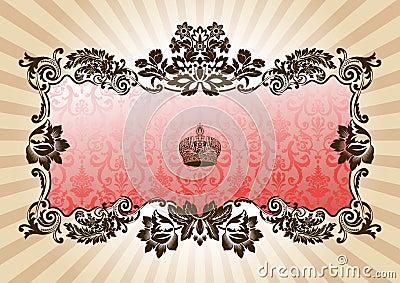 Vintage glamour frame red
