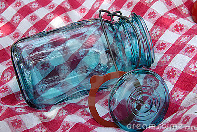 Vintage Glass Canning Jar