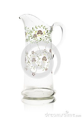 Free Vintage Glass Vase Isolated On White Royalty Free Stock Photos - 111856498