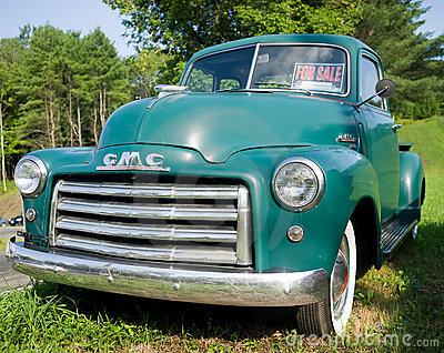 Vintage GMC Pickup Truck Editorial Stock Image - Image ...