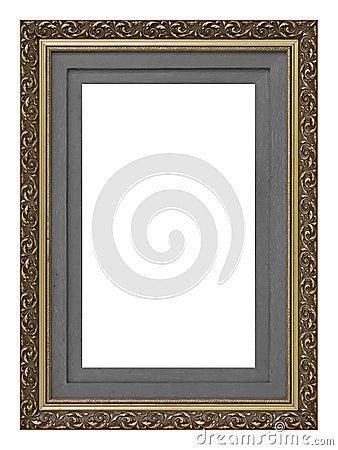 Vintage gold wooden picture frame