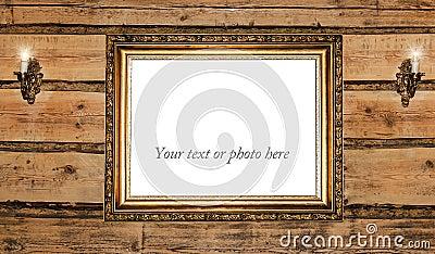 Vintage golden picture frame