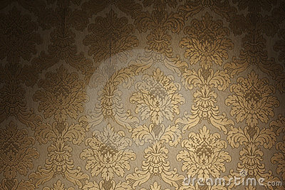 Vintage golden wallpaper