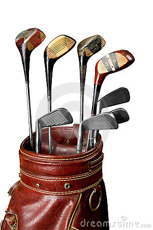 Free Vintage Golf Clubs Royalty Free Stock Photography - 3358387