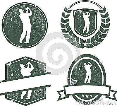 Vintage Golf Emblems