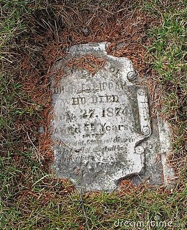 Vintage grave tombstone