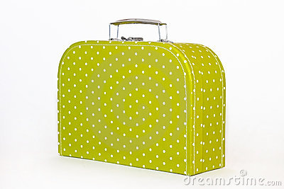 Vintage Green Polka Dot Lunchbox