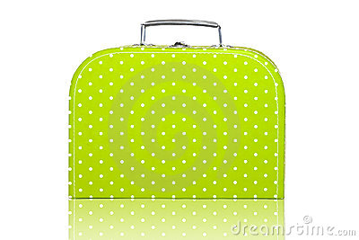 Vintage Green Polka Dot Lunchbox