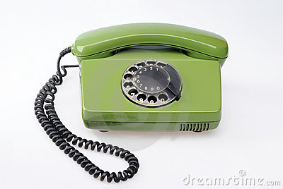 Vintage green telephone