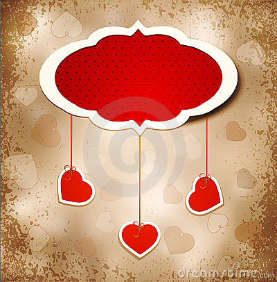 Free Vintage Grunge Background To A Valentine S Day Stock Images - 22527064