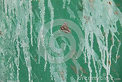 Vintage grunge  green metal sheet