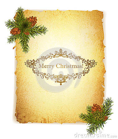 Free Vintage Grunge Paper With Christmas Greetings Royalty Free Stock Images - 27423539