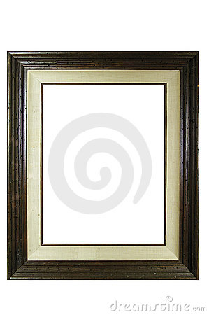 Vintage grunge wooden photo frame