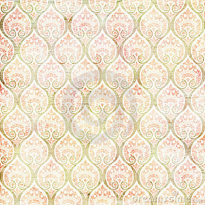 Free Vintage Grungy Damask Repeating Pattern Stock Photography - 20987122