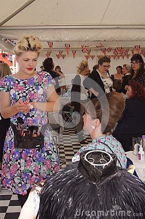 Vintage Hair and Beauty Salon Editorial Stock Image