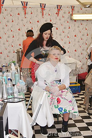 Vintage Hair and Beauty Salon Editorial Photography
