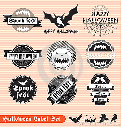 Vintage Halloween Labels and Stickers