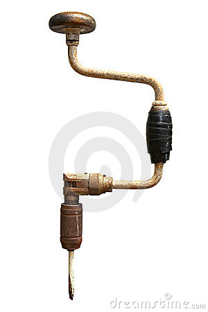 Free Vintage Hand Drill Royalty Free Stock Image - 4205686