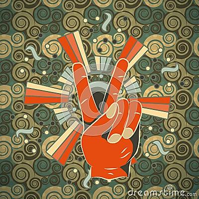 Vintage Hand peace