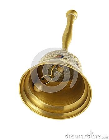 Vintage handbell on white