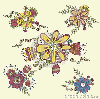 Vintage handdrawn floral