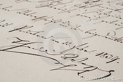 Vintage handwriting