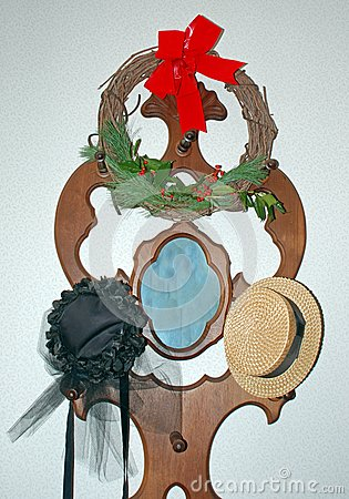 Vintage Hats and Wreath