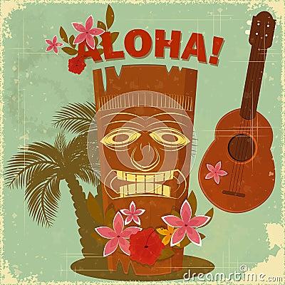 Free Vintage Hawaiian Postcard Stock Image - 24500731