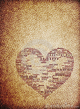 Vintage heart leather texure background