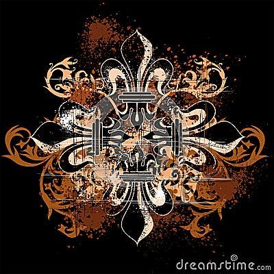 Vintage heraldic cross