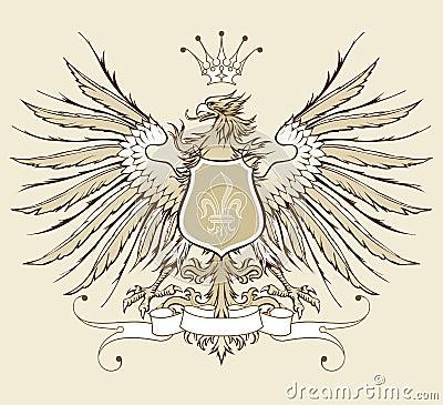 Vintage heraldic eagle