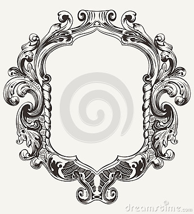 Vintage High Ornate Original  Frame