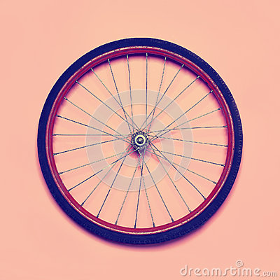 Free Vintage Hipster Photo Bicycle Wheel Stock Photography - 50694712