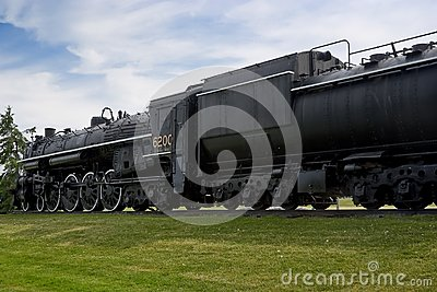 Vintage Historic Steam Train Engine