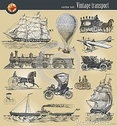 Vintage historical transport