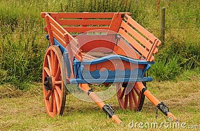 Vintage, horse drawn farm cart