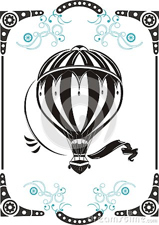 Free Vintage Hot Air Balloon Stock Image - 29168011