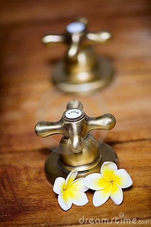 Vintage hot and cold tap
