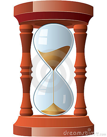 Vintage hourglass Vector Illustration