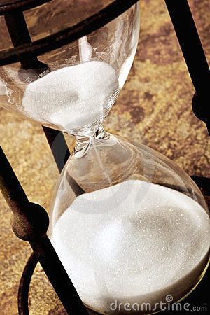 Vintage Hourglass over Stone