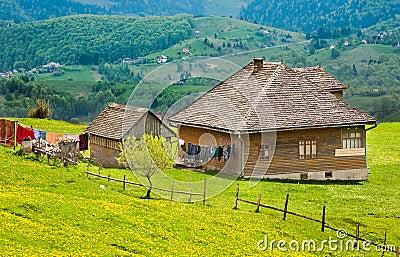 Vintage house on mountain