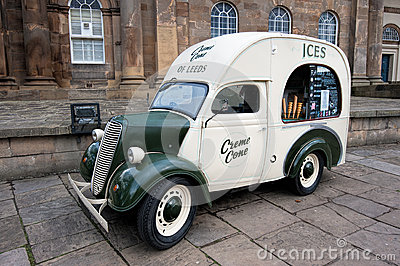 Vintage ice cream van Editorial Image