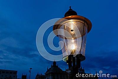 Vintage Illuminated Street Lamp